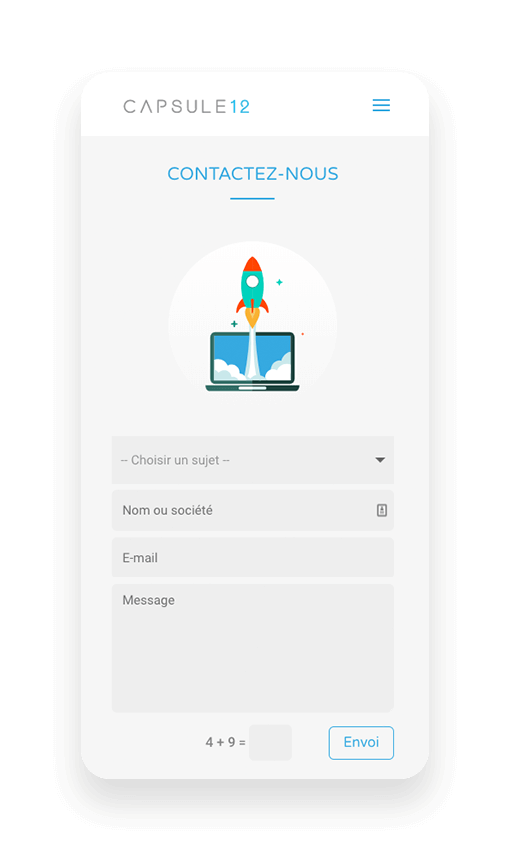 Capsule 12 - Digital - Formulaire de contact UX/UI Design